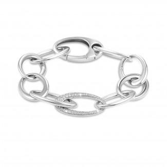 Bracelets - Chaîne de bracelet classique en or blanc avec diamants 1,70 carat
