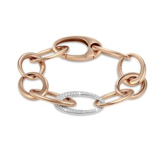 Bracelets - Chaîne de bracelet classique en or rouge avec diamants 1,70 carat
