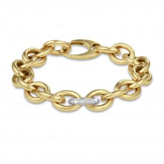 Bracelets - Chaîne de bracelet audacieuse en or jaune avec diamants 0,34 carat