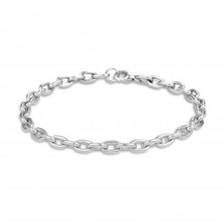 Bracelets - Chaîne de bracelet élégante en or blanc