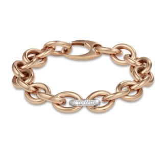 Bracelets - Chaîne de bracelet audacieuse en or rouge avec diamants 0,34 carat