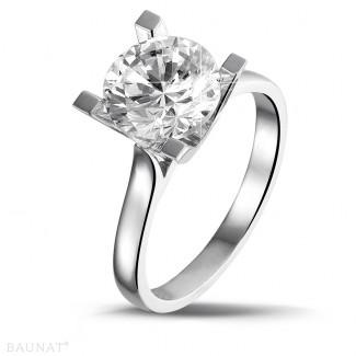 - 2.50 carat bague diamant solitaire en platine