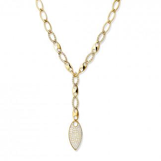 Colliers en diamants - 1.65 carat collier en or jaune et diamants
