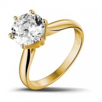 2.50 carats bague diamant solitaire en or jaune
