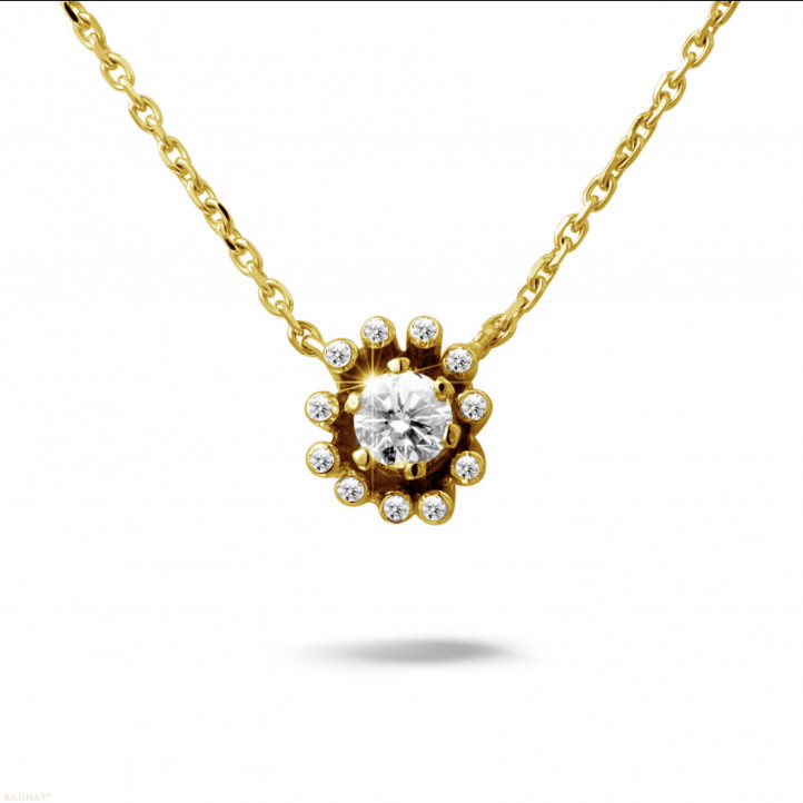 0.25 carat collier design en or jaune avec diamants