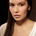 0.45 carat pendentif en forme de coeur en or rouge et diamants