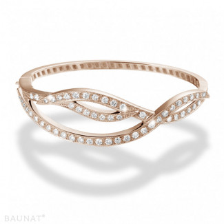 Or Rouge - 2.43 carat bracelet design en or rouge avec diamants