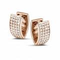 2.16 carat boucles d'oreilles en or rouge et diamants