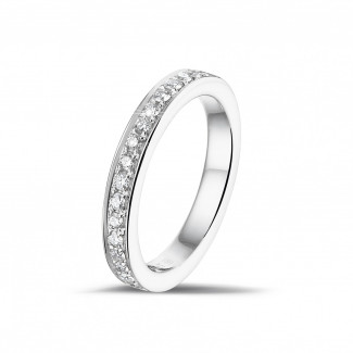 0.25 carat alliance (demi-tour) en or blanc avec diamants