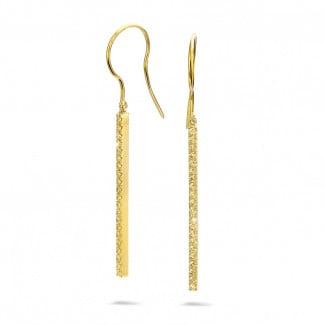 Classics - 0.35 carat boucles d'oreilles bâton en or jaune et diamants jaunes