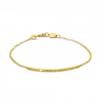 Intemporel - 0.25 carat bracelet fin en or jaune avec diamants jaunes