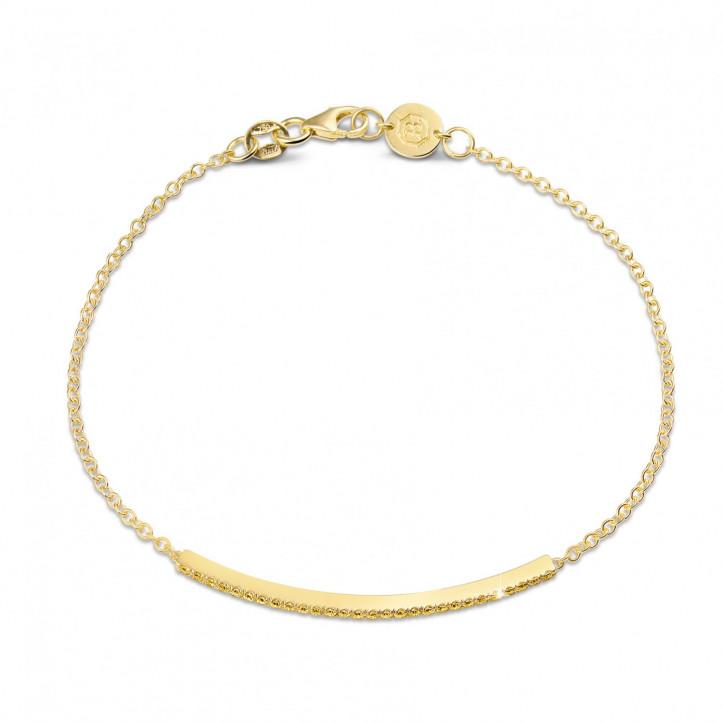 0.25 carat bracelet fin en or jaune avec diamants jaunes