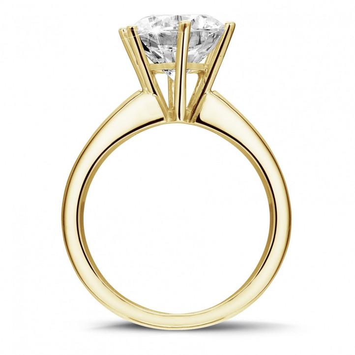 bague or jaune solitaire diamant