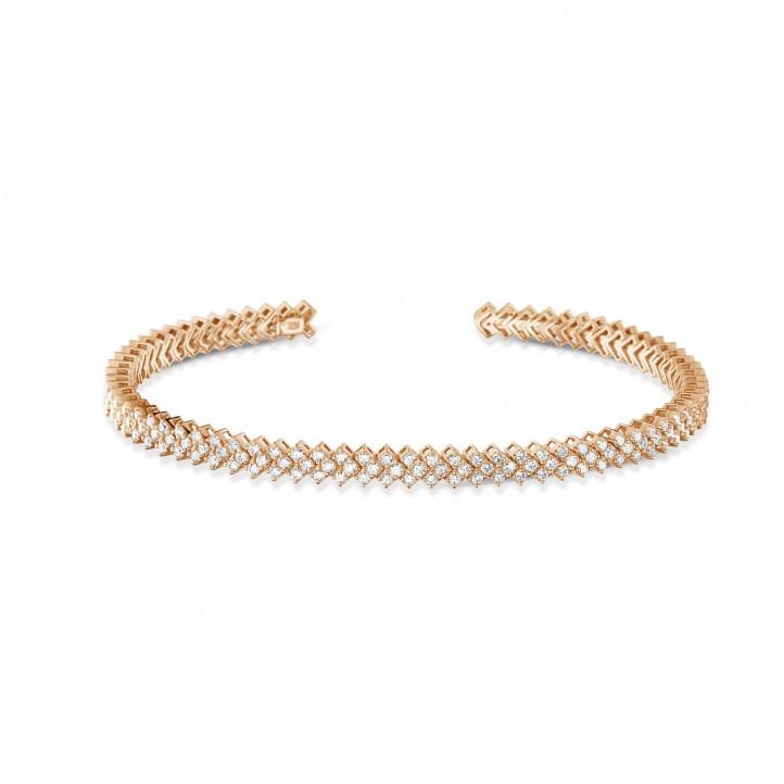 0.80 carat bracelet esclave en or rouge