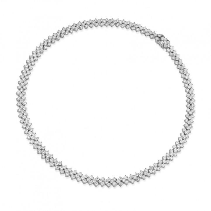19.50 carats collier design arête en or blanc avec diamants