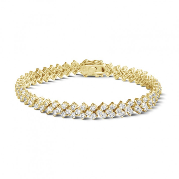 9.50 carats bracelet design arête en or jaune avec diamants