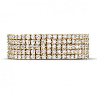 25.90 carats large bracelet rivière en or jaune avec diamants