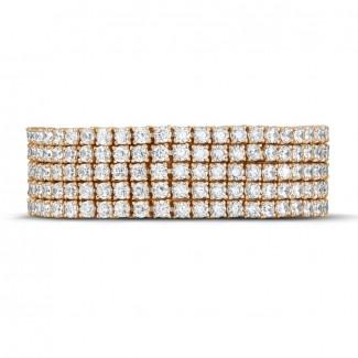 Bracelets en diamants Or Rouge - 25.90 carats large bracelet rivière en or rouge avec diamants