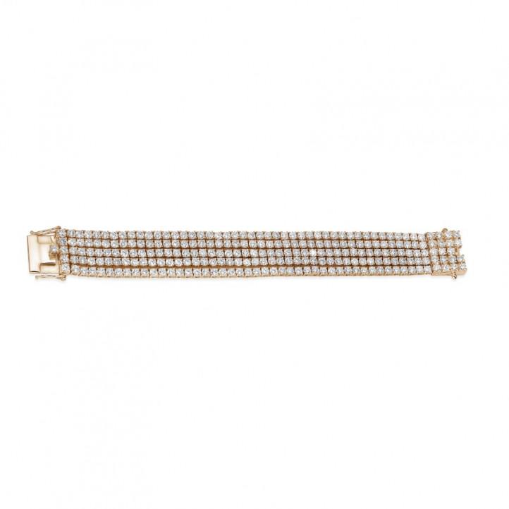 25.90 carats large bracelet rivière en or rouge avec diamants