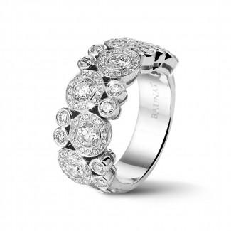 Nouveautés - 1.80 carat bague en or blanc et diamants