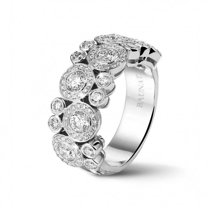 choisir véritable se connecter dernière sélection 1.80 carat bague en or blanc et diamants