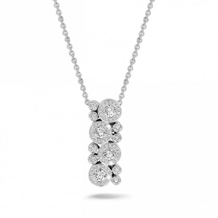 1.20 carat pendentif en or blanc et diamants