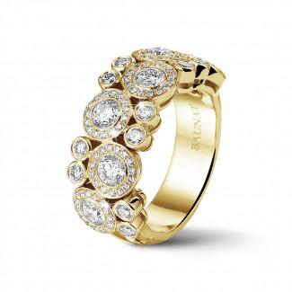 Bagues - 1.80 carat bague en or jaune et diamants