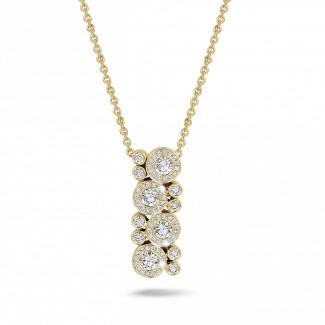 Colliers - 1.20 carat pendentif en or jaune et diamants