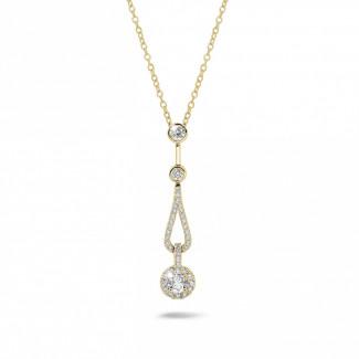 Colliers - 0.50 carat pendentif en or jaune et diamants