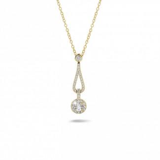 Colliers - 0.45 carat pendentif en or jaune et diamants