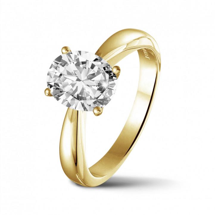 bague solitaire diamant 1 carat or jaune