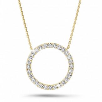 Colliers - 0.54 carat collier éternité en or jaune et diamants