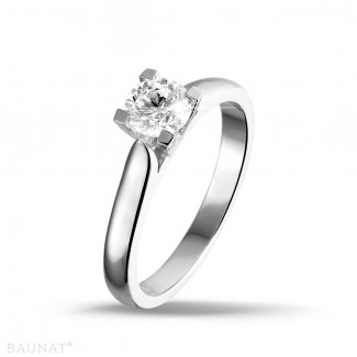 0.30 carats bague solitaire diamant en or blanc