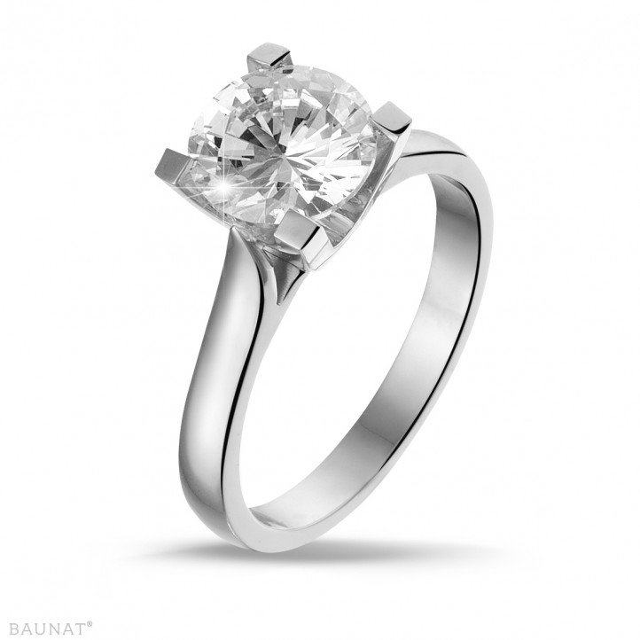 2.00 carat bague solitaire diamant en or blanc