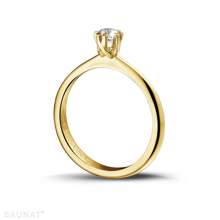 0.25 carat bague design solitaire en or jaune avec huit griffes