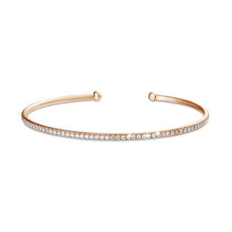 Classics - 0.75 carat bracelet esclave en or rouge avec diamants