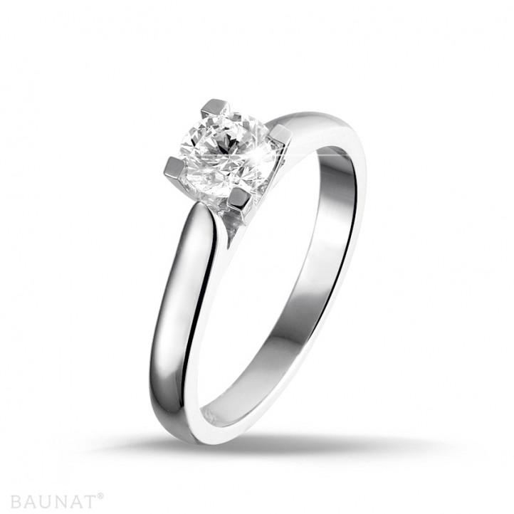 0.30 carats bague solitaire diamant en or blanc
