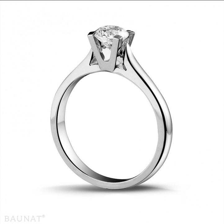 0.50 carat bague solitaire diamant en or blanc