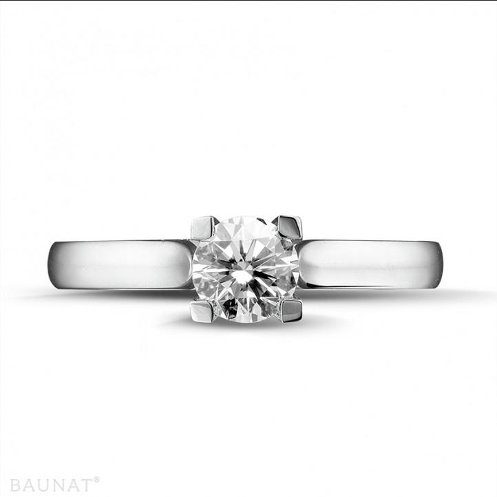 0.50 carats bague solitaire diamant en or blanc