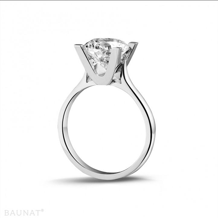 2.50 carat bague solitaire diamant en or blanc