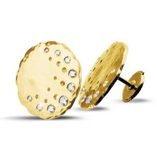 Boucles d'oreilles - 0.26 carat boucles d'oreilles design en or jaune avec diamants