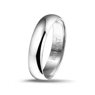 Mariage - Bague pour hommes jonc parisien de 5.00 mm en or blanc