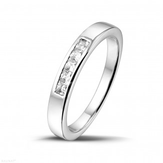 0.30 carat alliance en or blanc et diamants princesses