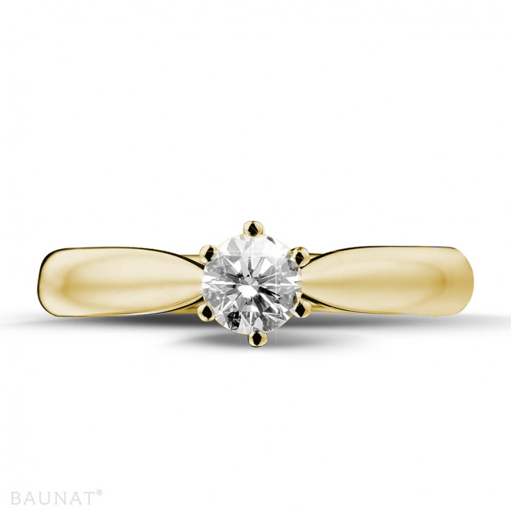0.30 carat bague diamant solitaire en or jaune