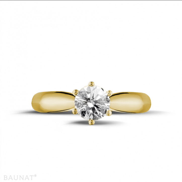 0.50 carat bague diamant solitaire en or jaune