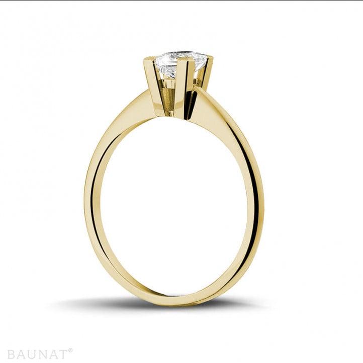 0.50 carat bague solitaire en or jaune avec diamant princesse