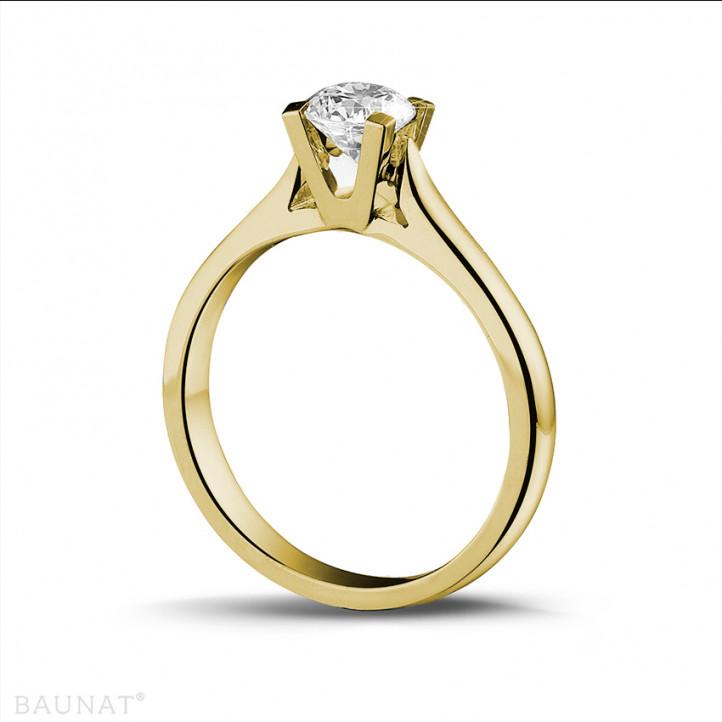 0.50 carats bague diamant solitaire en or jaune
