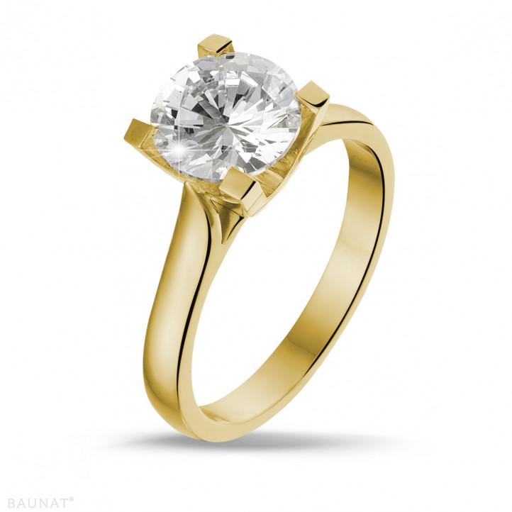 2.00 carat bague diamant solitaire en or jaune