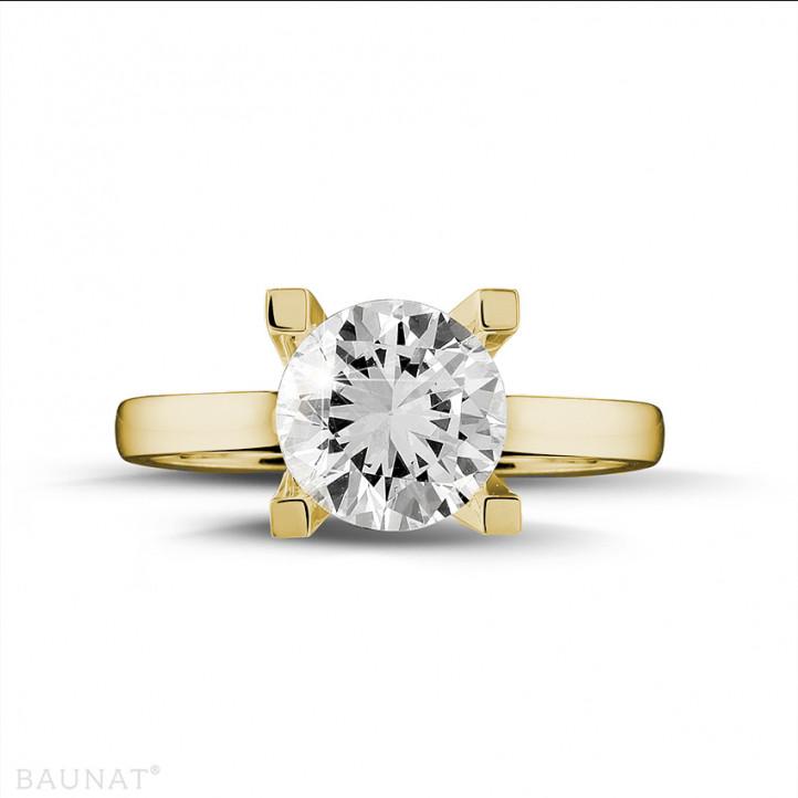 2.50 carat bague diamant solitaire en or jaune