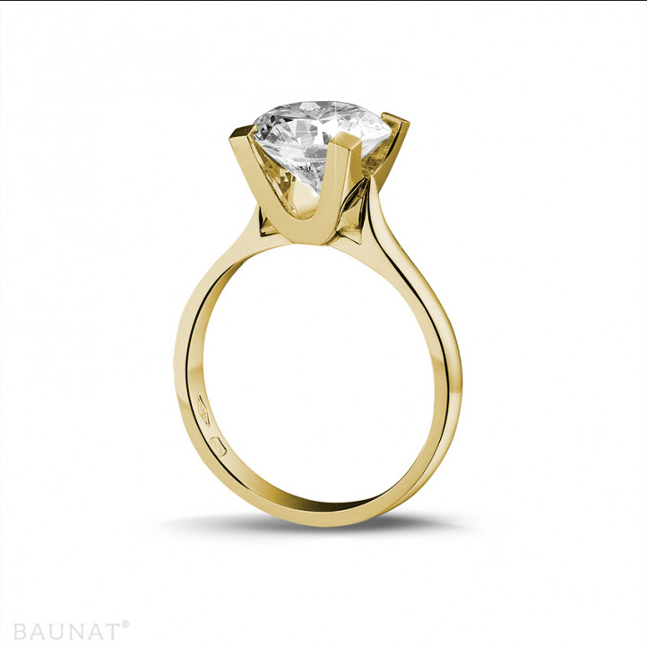 3.00 carats bague diamant solitaire en or jaune